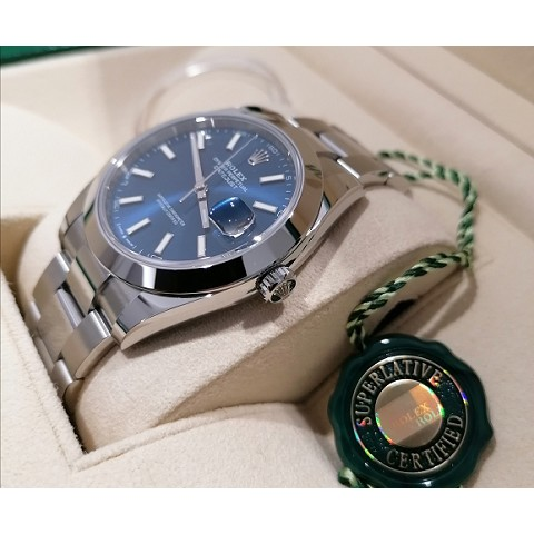Datejust2 41 mm.  ref. 126300 blue Oyster new 2020